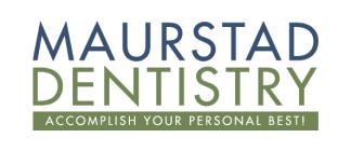 Maurstad Dentistry logo with white background. Omaha TMJ dentist
