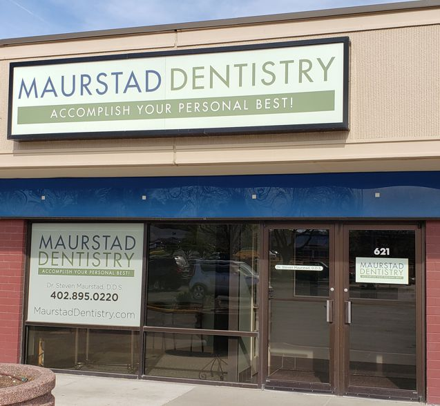 Maurstad Dentistry entrance | family and general dentistry in Omaha